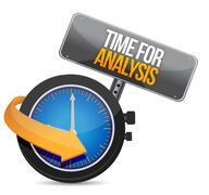 Time for analysis illustration design over a white background Stock Illustration