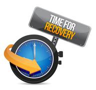 Stock Illustration of time for recovery concept illustration design over white