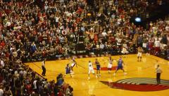 Final Moments at Blazer vs Clipper Game Stock Footage