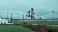 USA Cape Canaveral 027 Area of Space Shuttle Launching Pad Stock Footage