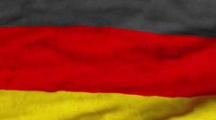 German waving flag Stock Footage
