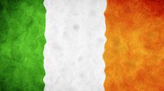 Irish waving flag Stock Footage