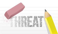 Stock Illustration of erasing threat concept illustration design over a white background