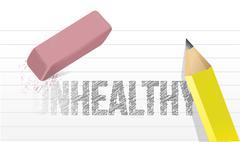 erasing unhealthy concept illustration design over a white background - stock illustration