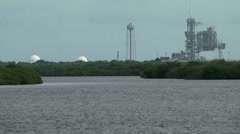 USA Cape Canaveral 051 Space Shuttle Launching Pad seen from public Area Stock Footage