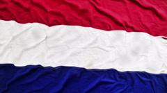 Dutch waving flag Stock Footage