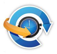 Stock Illustration of time constant movement concept illustration design