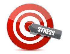 target stress bulls eye illustration design over white - stock illustration