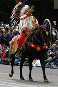 Stock Photo of plains indian on horseback