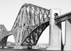 Stock Photo of forth rail bridge in black and white