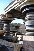 Jain Temple Pillars Stock Photos