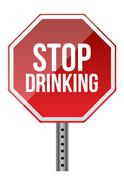 Stock Illustration of stop drinking sign illustration design over a white background