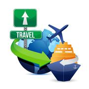 Stock Illustration of travel concept illustration design over a white background