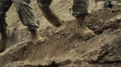 Soldiers In Battle - stock footage