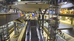 Berlin Hauptbahnhof - central railway station in Berlin, Germany - stock footage