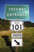 Stock Photo of famous highway 101 entrance