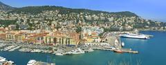 Sea port of City of Nice, France Stock Photos