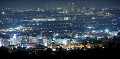 Beverly Hills yöllä Kuvituskuvat