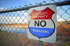 government property warning - stock photo