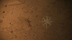 Compas map symbol compass Stock Footage