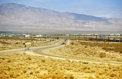 mojave california and hwy 14. - stock photo