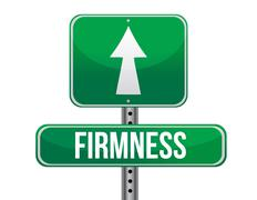 Stock Illustration of firmness road sign illustration design over a white background