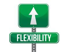 flexibility road sign illustration design over a white background - stock illustration