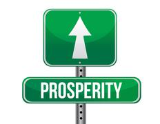 prosperity road sign illustration design over a white background - stock illustration