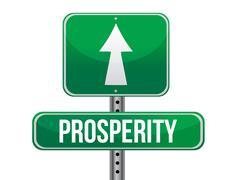 Stock Illustration of prosperity road sign illustration design over a white background