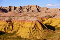 badlands national park, south dakota, usa - stock photo