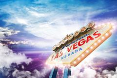 Welcome in las vegas Stock Illustration