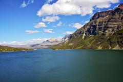 st mary lake montana - stock photo