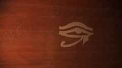 Egyptian eye graphic heiroglyph Stock Footage