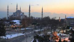 Blue Mosque Pan Video Stock Footage
