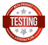 Red stamp that shows the term beta testing illustration Stock Illustration