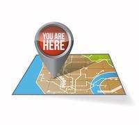 Your current location pointer illustration design over white Stock Illustration