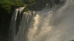 The Middle of Iguassu Waterfalls - stock footage