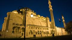 Suleymaniye Mosque, Istanbul Stock Footage