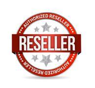 Authorized reseller seal stam illustration design over white Stock Illustration