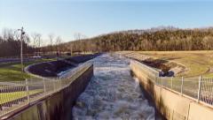 Barren River Lake Dam Tail Waters 1 HD Stock Footage