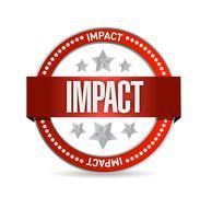Stock Illustration of impact seal illustration design over a white background