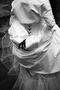 bride on her wedding day - stock photo