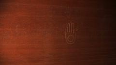 Jainism religous symbol Stock Footage