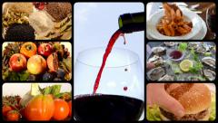 Food and drink, montage - stock footage
