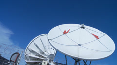 Satellite dishes time lapse Stock Footage