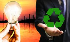 Stock Illustration of Green industrial concept