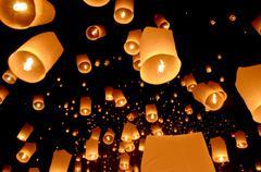 Floating lantern Stock Photos