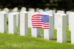 Military graves Stock Photos