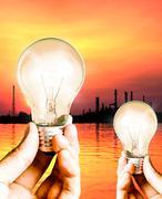 save power concept - stock illustration