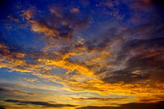 Nice sunset sky Stock Photos